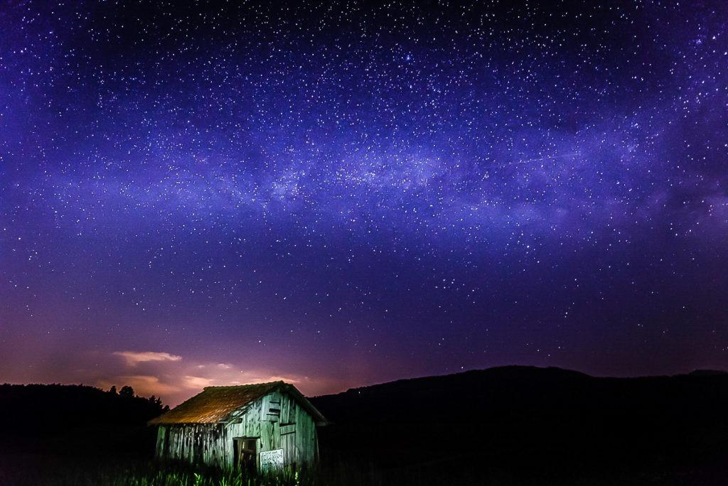 Dlouhá expozice kurz noční obloha