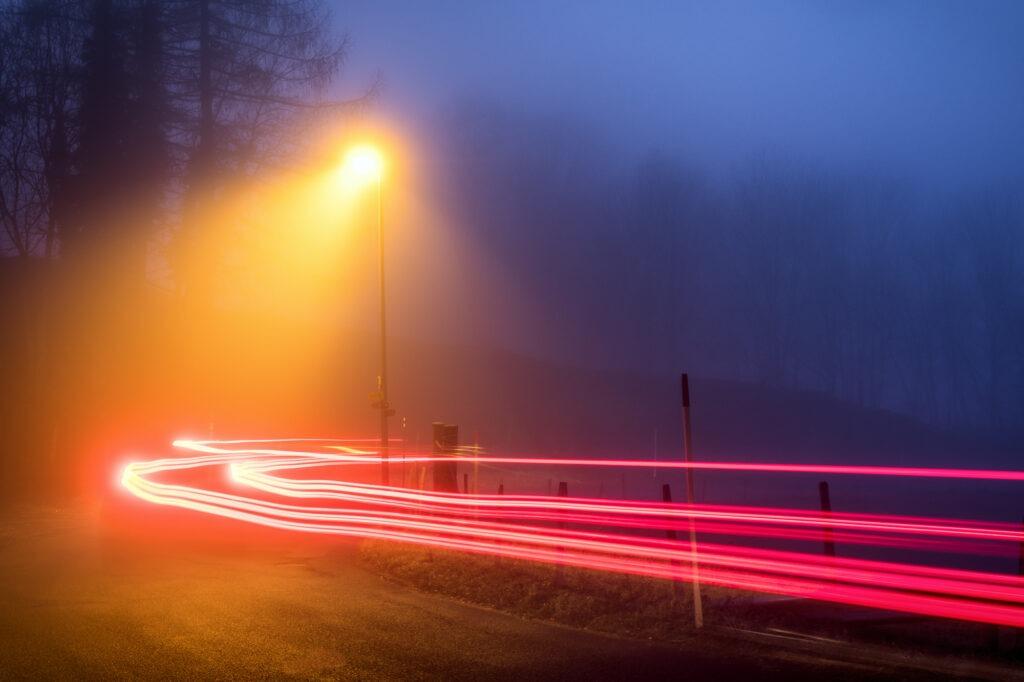 Dlouhá expozice kurz car trails